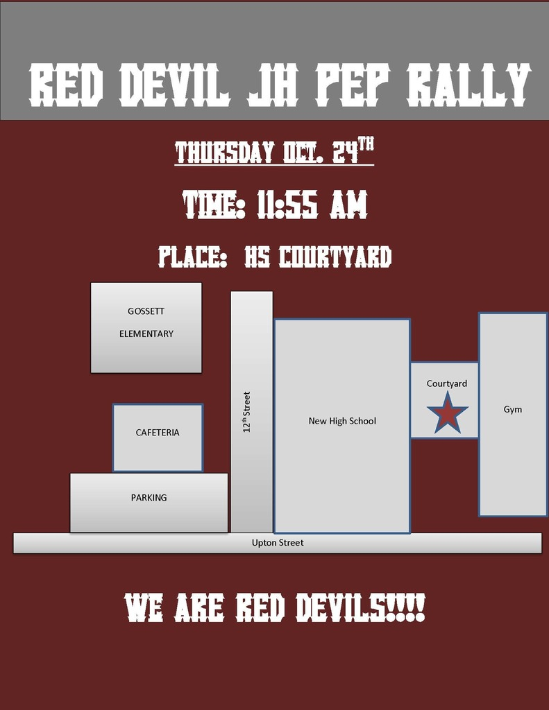 JH Pep Rally Flyer