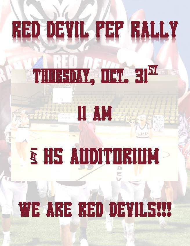 PEP RALLY FLYER