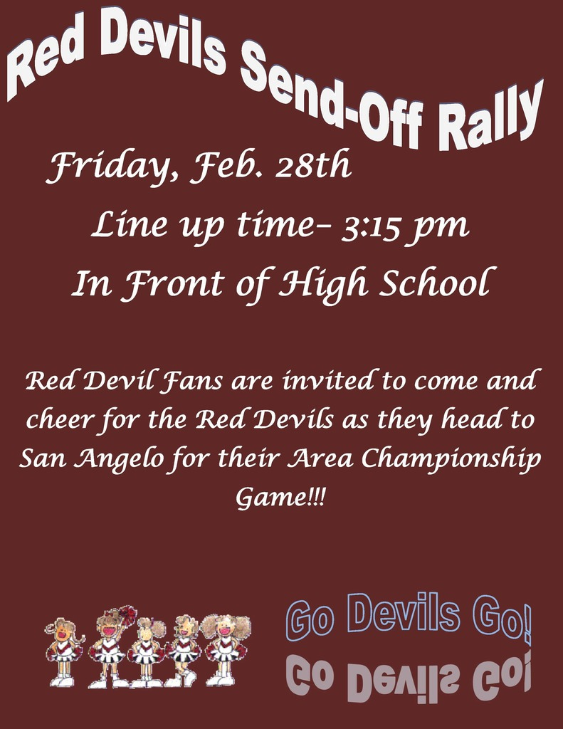 SEND OFF RALLY FLYER